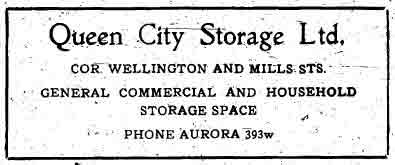 An early-20th century newspaper advertisement for storage space.