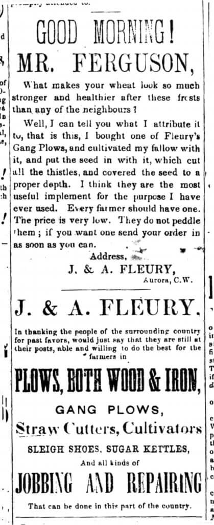 A black and white scan of an old newspaper ad in the form of an epistle.